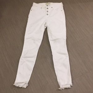 Madewell high waisted button fly white jeans 25